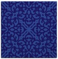 rug #253649 | square blue-violet damask rug