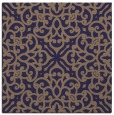 rug #253653 | square blue-violet damask rug
