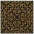 rug #253661 | square black damask rug