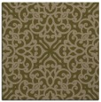 rug #253665 | square mid-brown damask rug