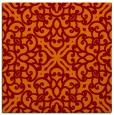 rug #253733 | square red-orange traditional rug