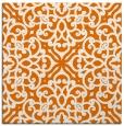 rug #253737 | square orange damask rug
