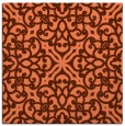 rug #253745 | square red-orange traditional rug