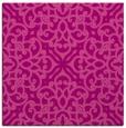 rug #253753 | square pink damask rug