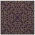 rug #253777 | square mid-brown damask rug