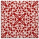 rug #253785 | square red traditional rug