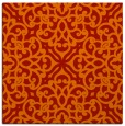 rug #253789 | square red traditional rug