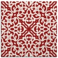rug #253793 | square red traditional rug