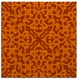 rug #253801 | square red-orange traditional rug