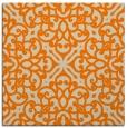 rug #253861   square orange damask rug