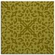 rug #253865 | square light-green damask rug