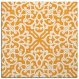 rug #253893 | square light-orange damask rug