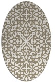 rug #253897   oval white rug