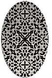 rug #253901   oval white traditional rug