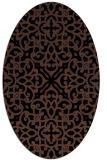 rug #253913   oval black damask rug