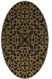 rug #253917   oval brown damask rug
