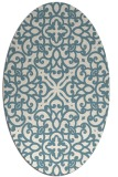 rug #253921 | oval white traditional rug