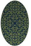 rug #253933   oval blue popular rug
