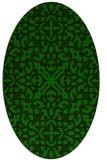 rug #253965 | oval green damask rug