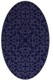 rug #253981 | oval blue-violet rug