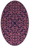 rug #253989 | oval blue-violet traditional rug