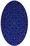 rug #254001 | oval blue-violet damask rug