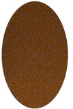 rug #254041 | oval brown damask rug