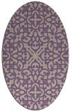 rug #254077 | oval purple damask rug