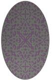 rug #254080 | oval damask rug