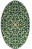 rug #254101   oval yellow traditional rug
