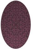 rug #254121 | oval purple damask rug