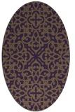 rug #254129 | oval purple rug