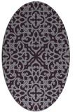 rug #254133 | oval purple traditional rug