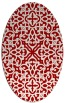 rug #254137 | oval red damask rug