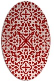 rug #254137 | oval red traditional rug