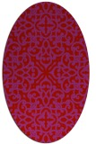 rug #254149 | oval red traditional rug