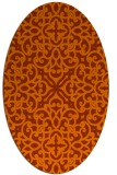 rug #254153 | oval red-orange damask rug