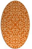 rug #254157 | oval red-orange damask rug