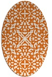 rug #254165 | oval red-orange damask rug