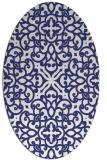 rug #254177   oval blue damask rug
