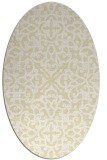 rug #254189 | oval white traditional rug