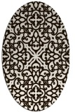 rug #254193 | oval brown damask rug