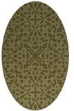 rug #254229 | oval light-green rug