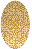 rug #254233 | oval light-orange damask rug