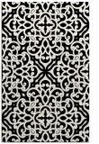 rug #254253 |  black damask rug