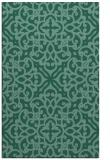 rug #254305 |  blue-green damask rug