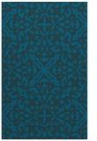 rug #254329 |  blue damask rug
