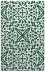 rug #254381 |  green damask rug