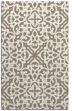 rug #254389 |  mid-brown damask rug