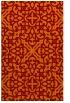 rug #254437 |  orange damask rug